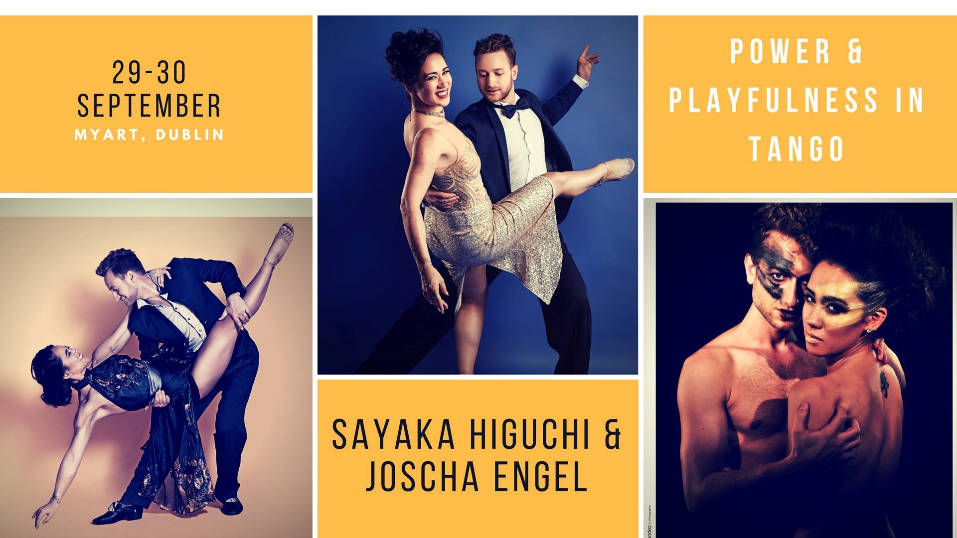 "Sayaka Higuchi and Joscha Engel in Dublin for the Tango Weekend Seminar ""Power & Playfullness"""